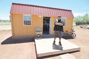 Shed Into Man Cave : Bad boy barber converts shed into barbershop mancave