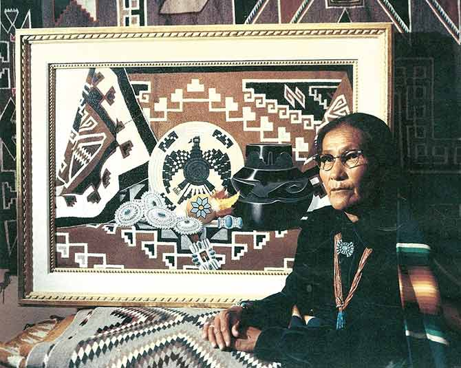 Daisy Taugelchee World S Most Famous Rug Weaver Navajo