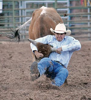 Brown Redhorse Team Ropers Win Lion S Club Rodeo Navajo