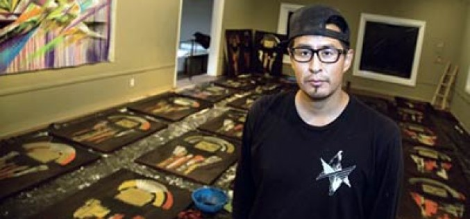 Diné artist's work vibrates through hotels