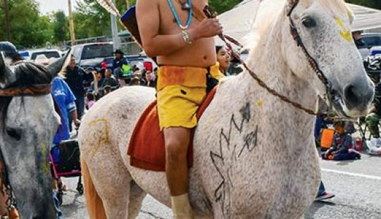 'Warrior' draws attention at tribal fairs